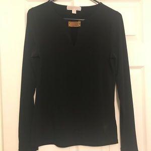 Michael Kors Long Sleeve black blouse Sz s